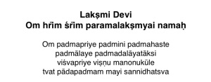 2 Laksmi Prayer