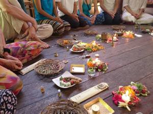 Puja with Sharada